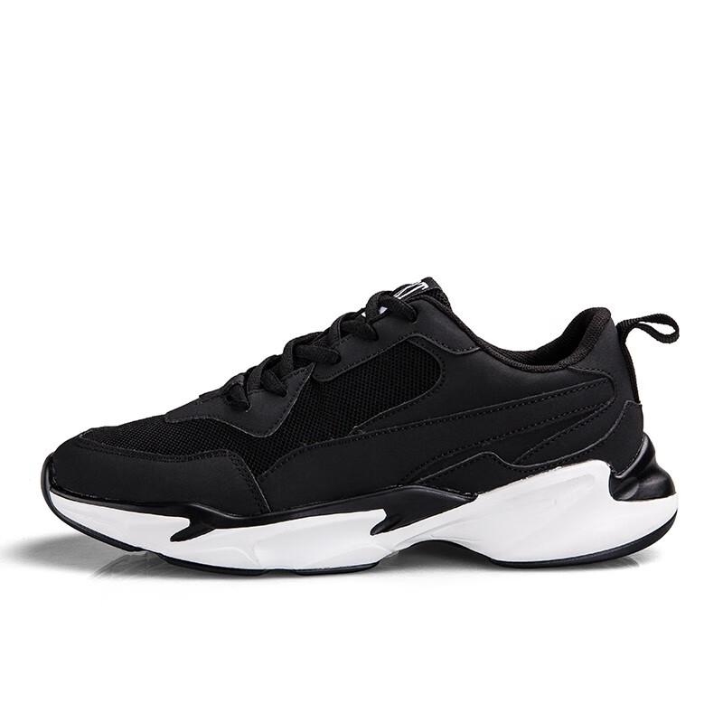 Обувь мужская приливная обувь спортивная обувь Корейский тренд Британская старая обувь MZGM черный 43 м фото