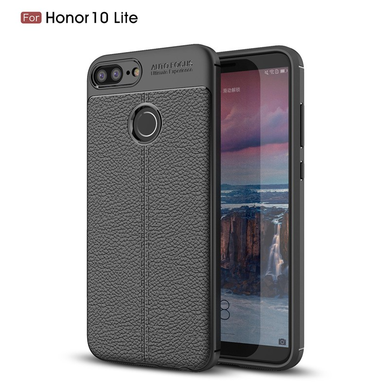 Fecoprior черный Задняя обложка для Huawei Honor 10 Lite Case Honor10 Lite