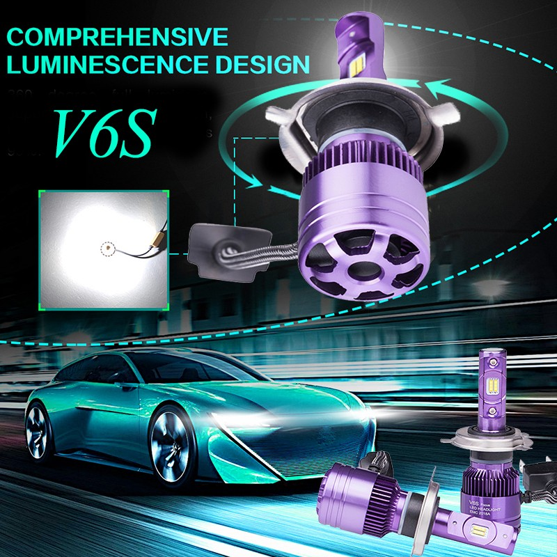 12V 90W Автомобильная лампа накаливания H4 Светодиодный автоматический прожектор 6000K Супер яркий прожектор Huiermeimi 9004 фото