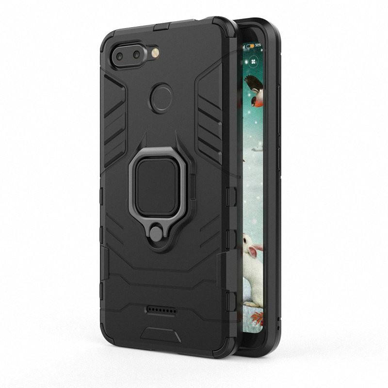 Для Xiaomi Redmi 6 Корпус для мобильного телефона с футляром для мобильного телефона с футляром для мобильного телефона с чехлом для телефона Xiaomi Mi A1 Mi 5X Mi5X WIERSS черный для Xiaomi Redmi 6 фото
