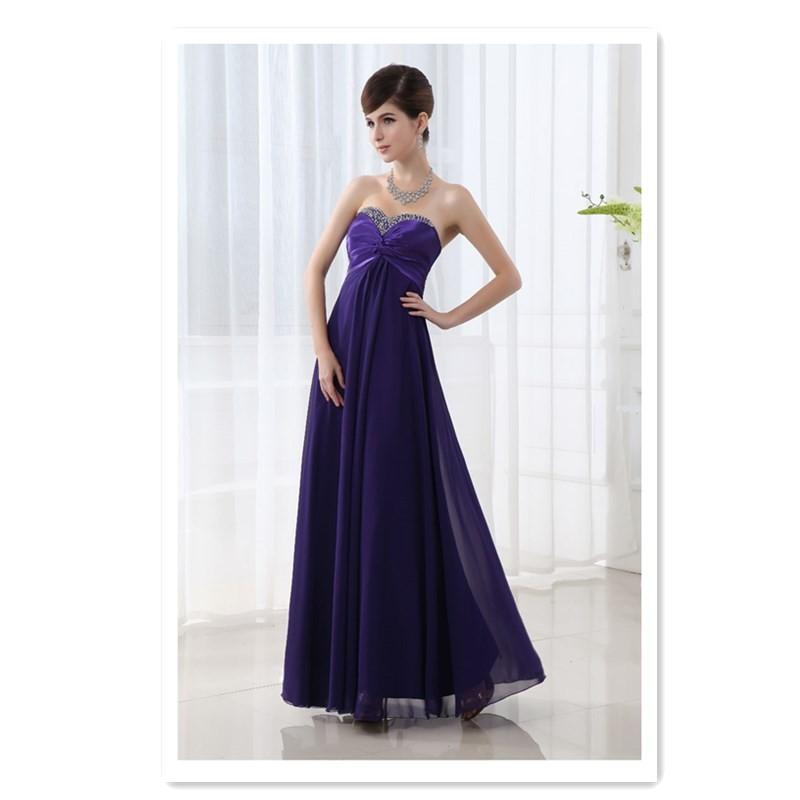 Свадебное свадебное платье LUO QIAN фиолетовый L фото