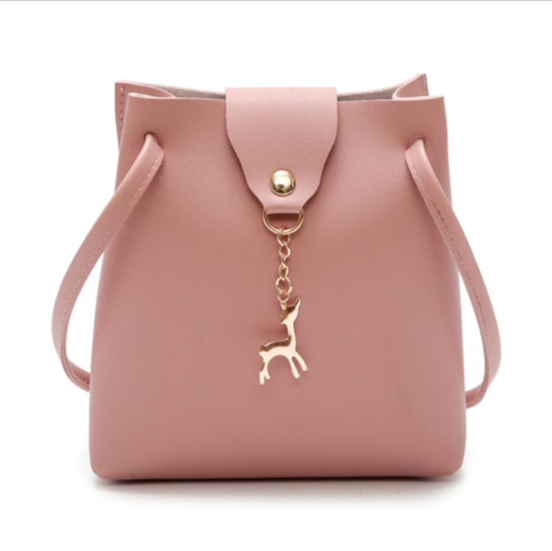 Сумка сумка кросс-кошелек сумка кожаный кожаный водонепроницаемый кошелек Meihuid розовый фото