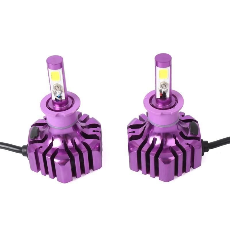 LUTU Фиолетовый цвет H3 H3 B3 2Pcs Автомобильная светодиодная лампа 6500K 36W