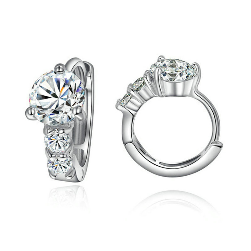 yoursfs yoursfs fashion 18k rose gold plated white black flower zircon stud earring