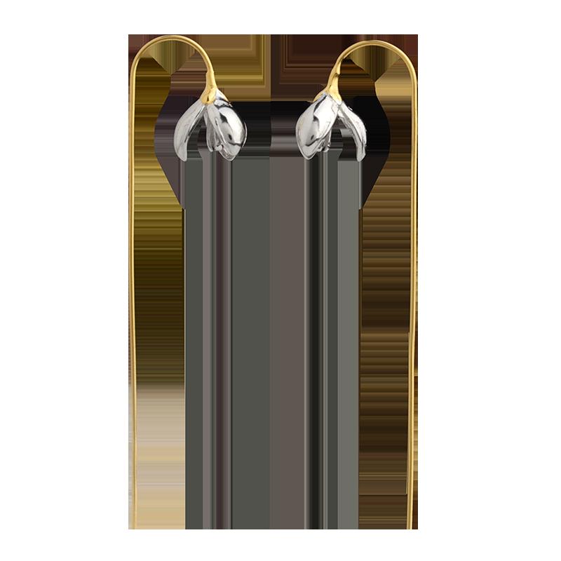 luolinglong luo linglong original s925 sterling silver earrings female song type triangle earrings earrings earrings temperament high end gift