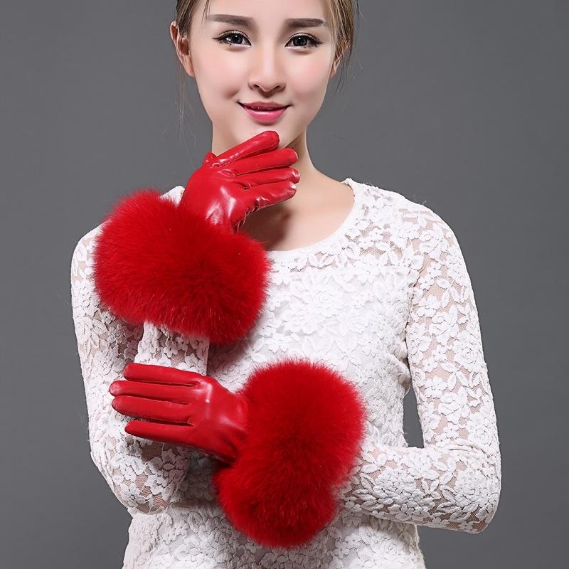 shangeryi Красный цвет Тип L красные перчатки бурлеск uni