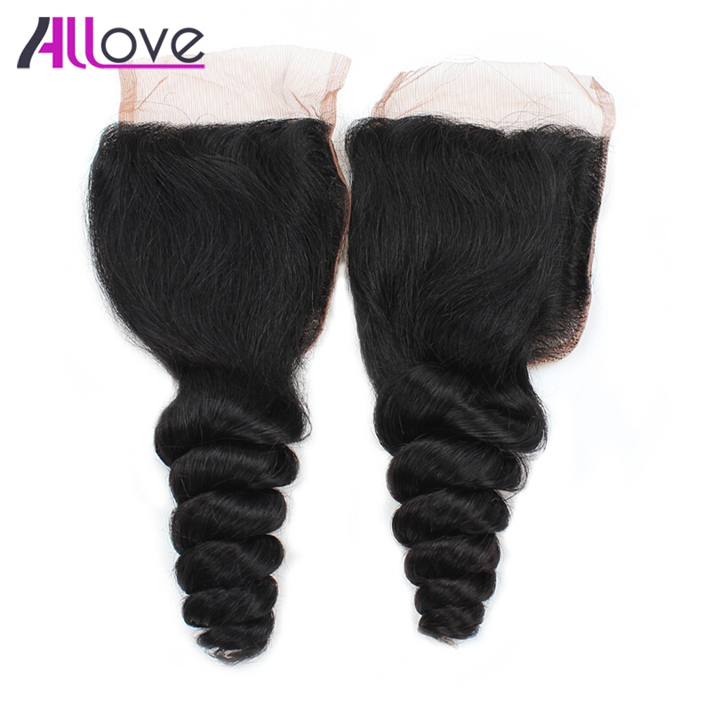 ALLOVE Natural Color 18 inches free part