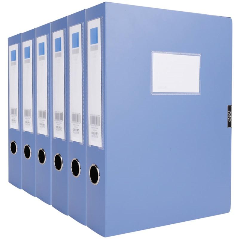 JD Коллекция Войлок 55мм пряжка файл коробки установлены шесть дефолт deli гастроном 5606 основная хозяйственная серия pp толщиной velcro файл коробка а4 55мм темно серый single нагруженный