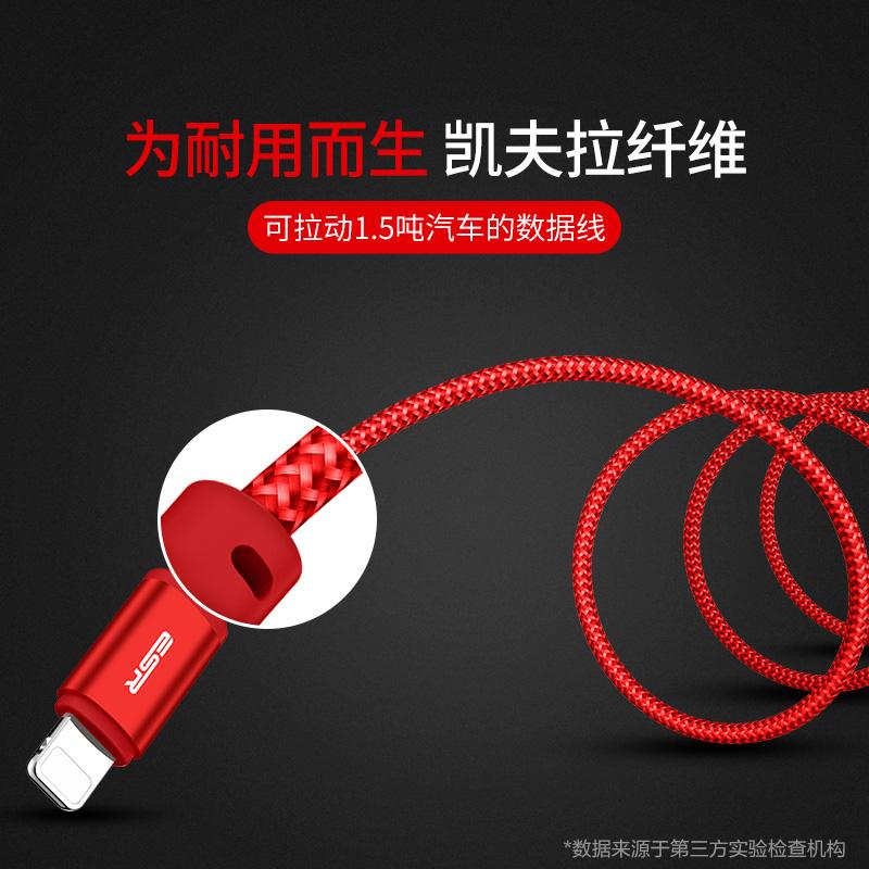 JD Коллекция 2 м Extended Edition - Китайский Красный дефолт новые 1 2 3м 3 6 10 футов плоской лапши прочной ткани плетеный синхронизации данных зарядный кабель для iphone 5 5с 6 6с плюс ipad мини 4