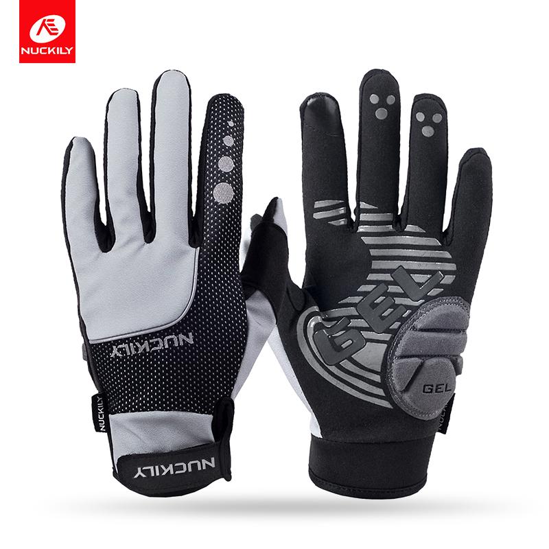 NUCKILY Серый S pro biker mcs 03 motorcycle racing full finger warmer gloves blue black grey size xl pair