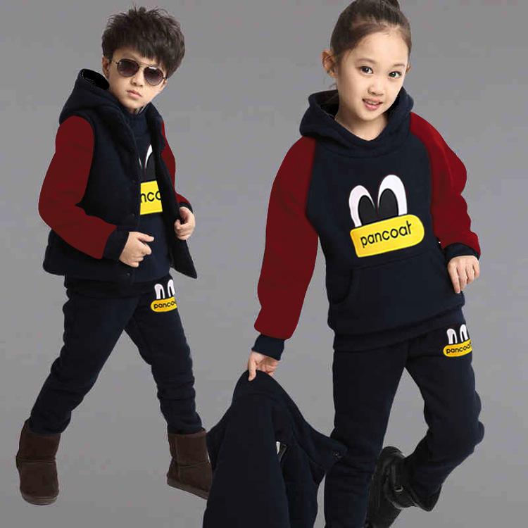 Девушка одежда девушка одежда девушка набор девушка зима набор хлопка набор GHFTTY Black 140 фото