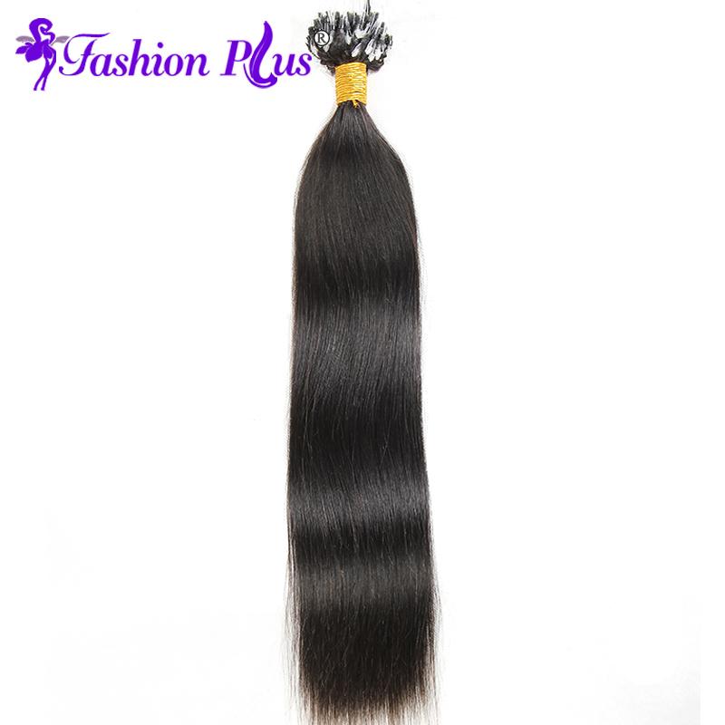 FASHION PLUS 1B 26 дюймов Бразильские прямые волосы Loop Micro Ring наращивания волос Бразильские волосы Virgin