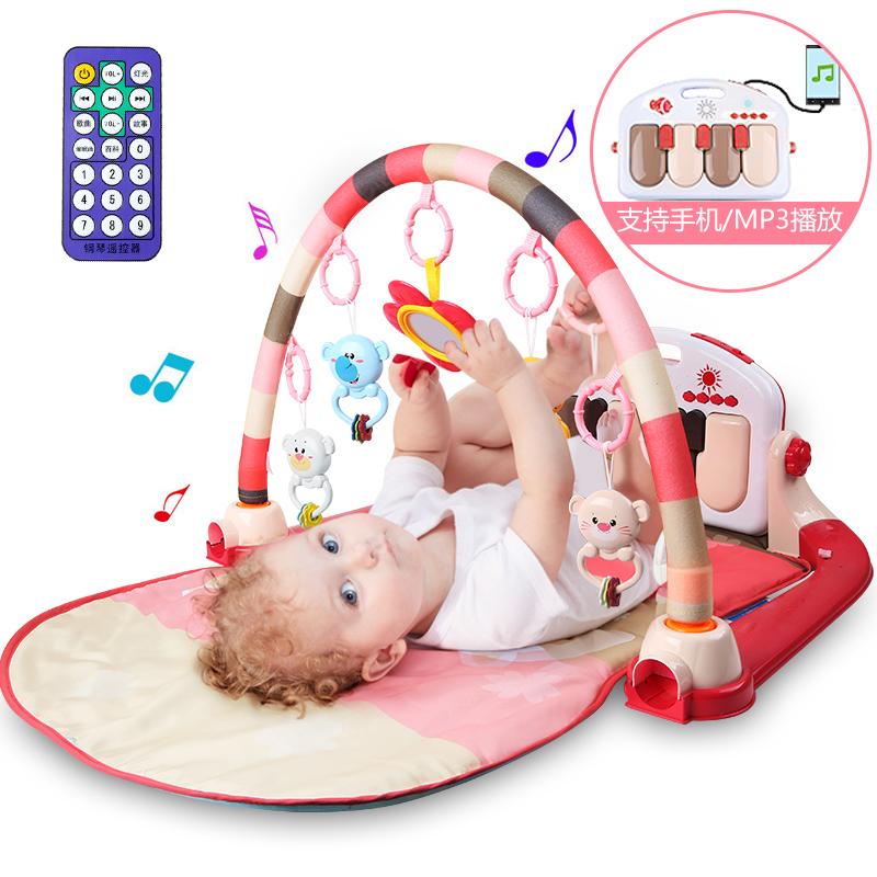 JD Коллекция Педаль Piano фитнес кадр розового зарядные денег дефолт доктор doll dr b раннего детства образовательные детские игрушки детские фитнес стеллаж новорожденных лапка цветка детский фитнес кадр