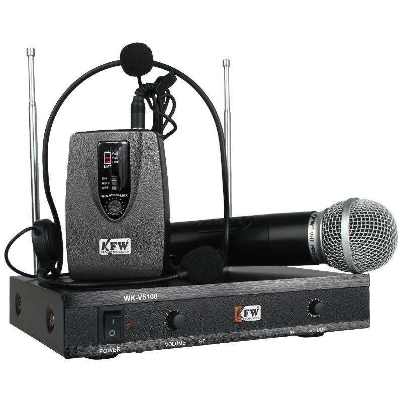 JD Коллекция kfw wk u8700 беспроводной микрофон u band микрофон karaoke stage speech microphone school conference ktv one tail два микрофона