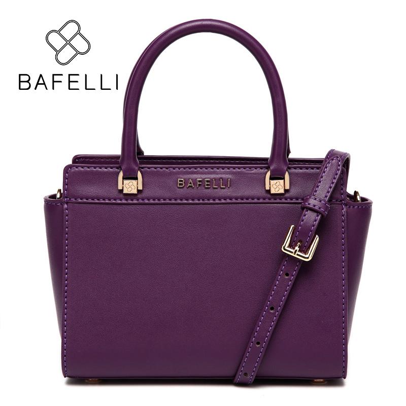 BAFELLI Пурпурный bafelli women bags split leather bucket handbag high quality string shoulder bag letter ornaments bolsos mujer red crossbody bag