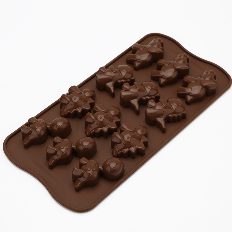BearPaw Другая выпечка 16 полость bowknots торта силикона желе пудинг шоколада прессформы украшения