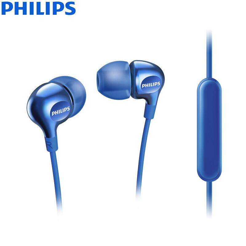 PHILIPS SHE3705 темно-синий наушники philips she8100 черные philips she8100 черные