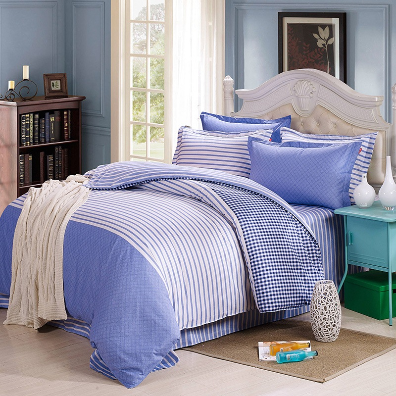 JD Коллекция синие полоски Кровать 15 м 18 м хай вэй 2001 небольшой случайный цвет пэт кровать