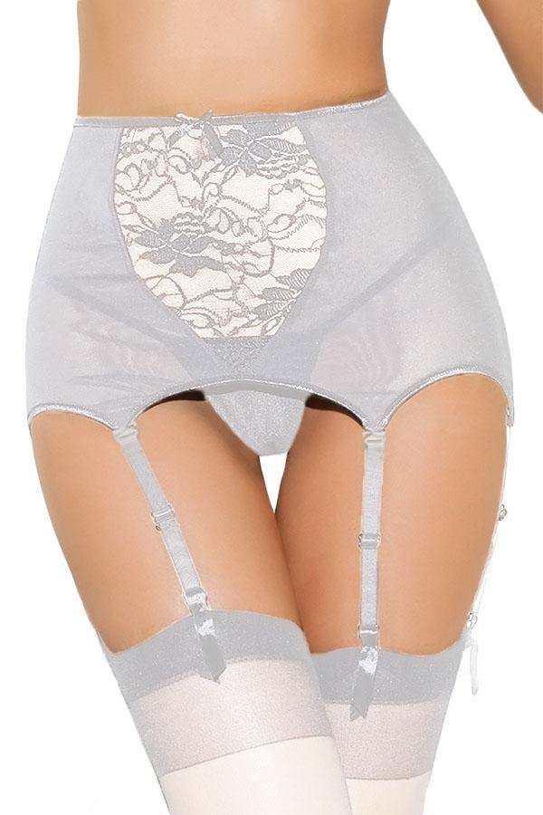 licking Белый цвет 32C 4 мерная пространство богиня серия колоритные белье шарма женщины сексуальных сеток полой картина щель юбка черные подтяжки