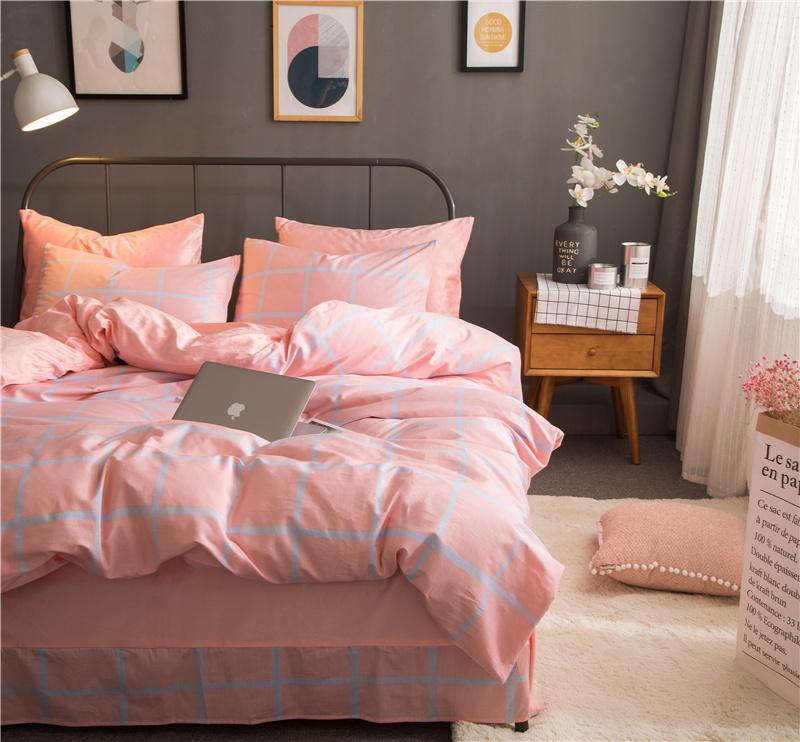 Brata современные - розовый стандартный размеродеяло200230cm mercury постельные принадлежности набор 4 штуки простыня с набивной чехол на одеяло 100