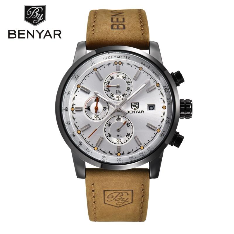 benyar черно-белый 2017 мужские часы известные лучшие роскошные бренды кварцевые часы мужские наручные часы мужской наручные часы