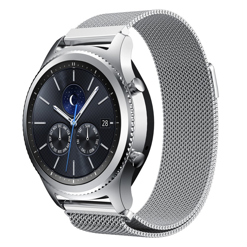 PINSENDA Серебристый цвет 22mm stainless steel watch band for samsung gear s3 classic frontier butterfly buckle strap wrist belt bracelet black silver