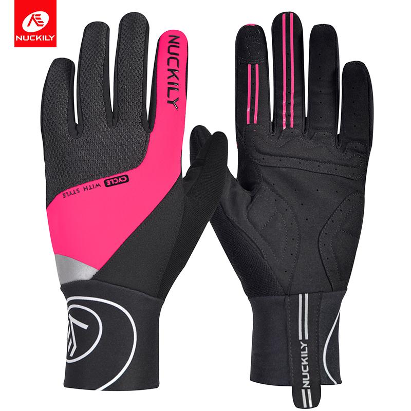 NUCKILY Розовый XL pro biker mcs 03 motorcycle racing full finger warmer gloves blue black grey size xl pair