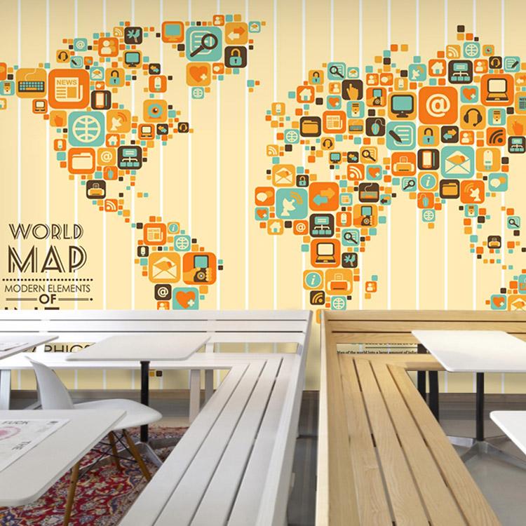 Colomac White 3d обои для фото 3d большая настенная роспись персонализированная еда ресторан обои карта мира живая обои роспись