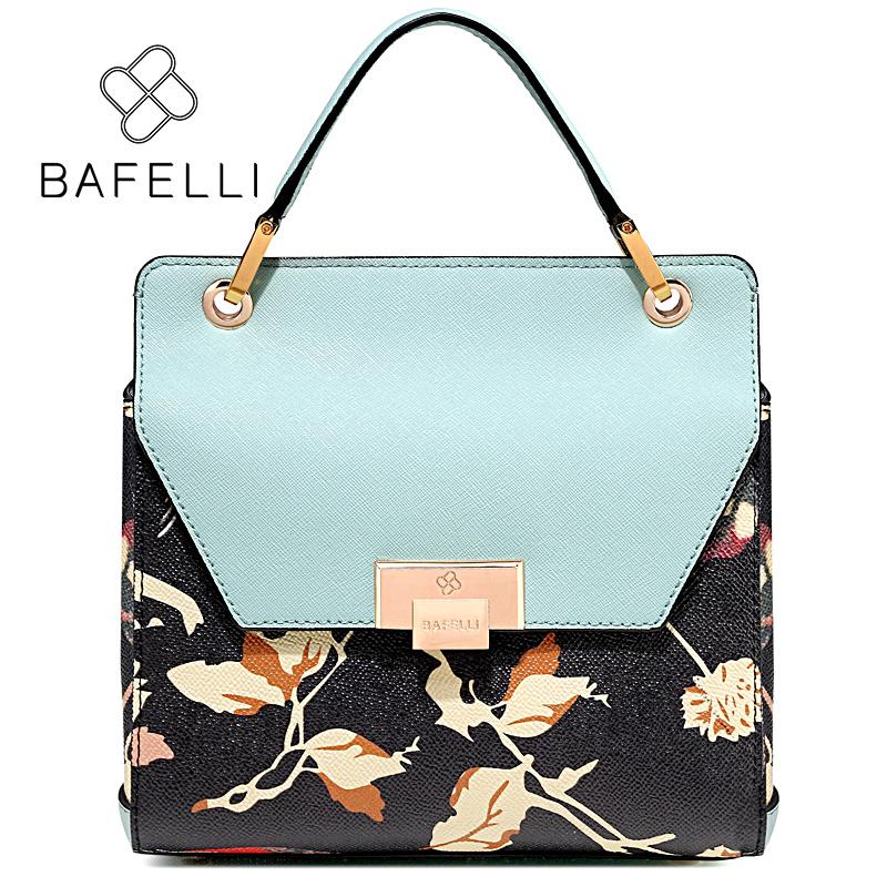 BAFELLI Blue bafei li bafelli бамбук сумка ретро седло мешок плеча рука сумка черная ba1 8h0107