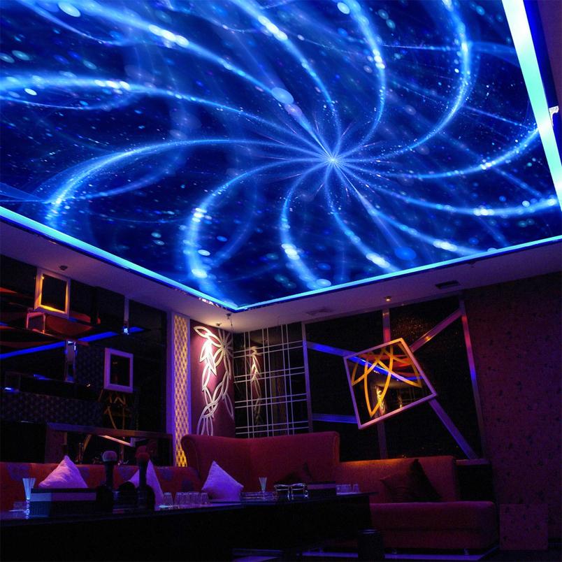 Colomac Смешанный цвет Art Blue Line Mural Modern