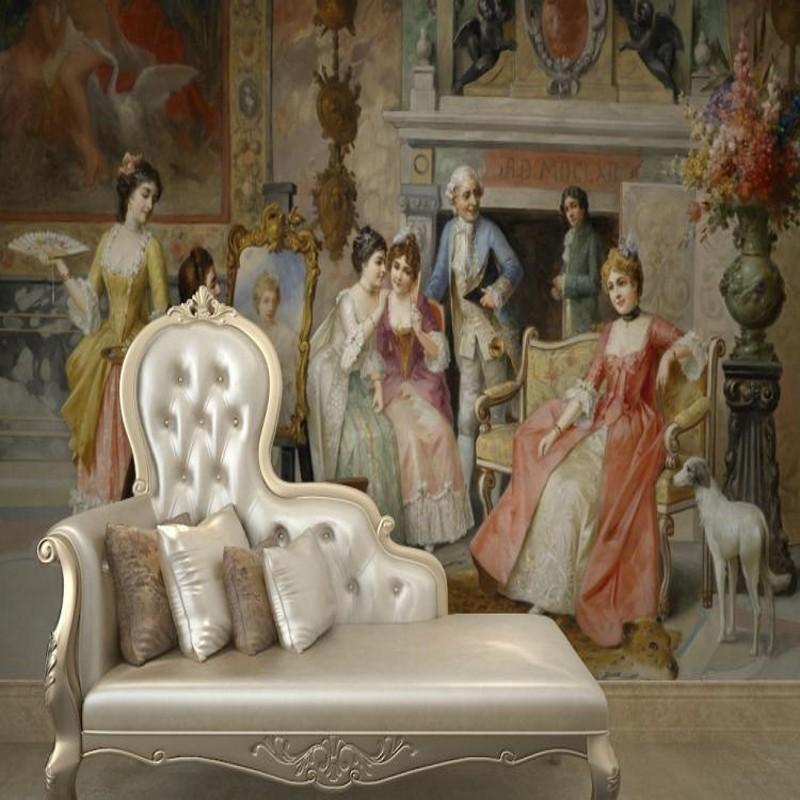 Colomac Смешанный цвет пользовательские обои 3d фотографии нетканые 3d тв фона настенные росписи гостиной спальни обои ретро европейские фрески