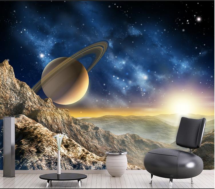 Colomac Смешанный цвет пользовательские 3d росписи большие стерео 3d нетканые обои