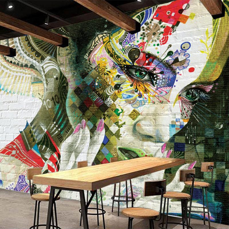 Colomac Смешанный цвет peking opera wallpaper retro bar cafe ktv restaurant sofa backdrop hot pot shop wallpaper mural chinese style