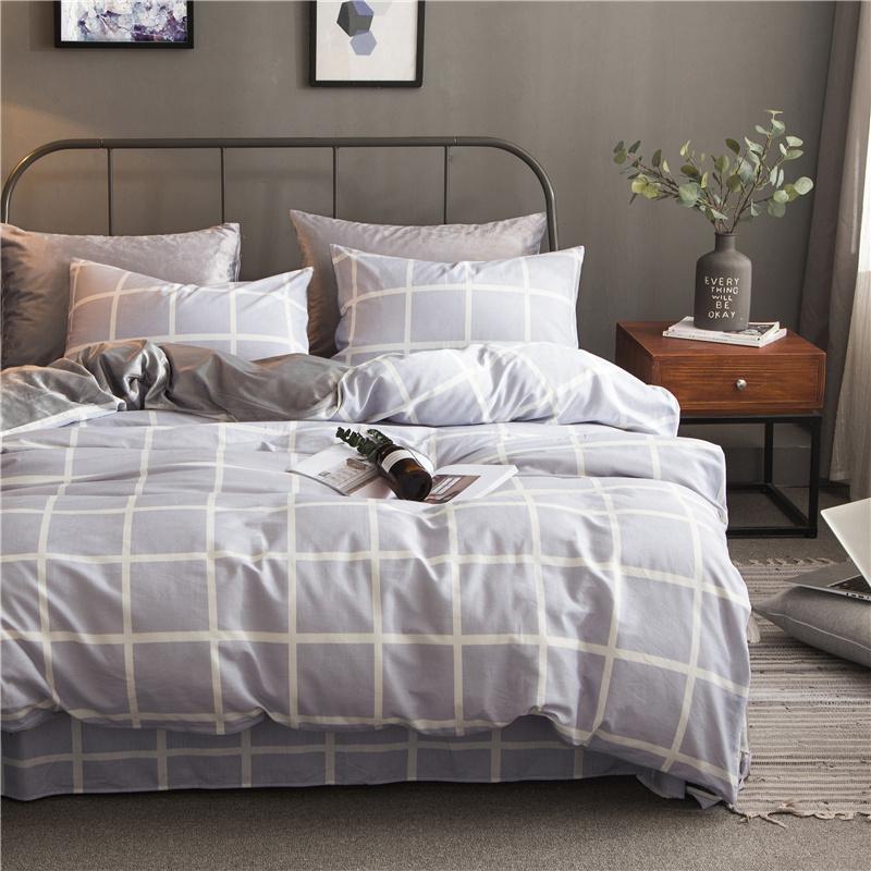 Brata современные - серый стандартный размеродеяло200230cm mercury постельные принадлежности набор 4 штуки простыня с набивной чехол на одеяло 100