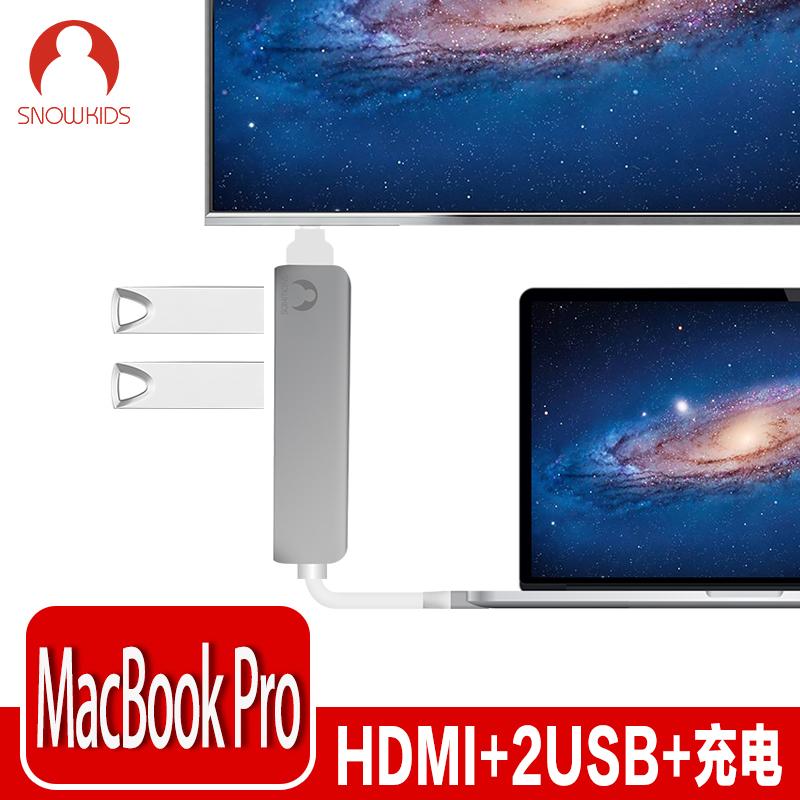 JD Коллекция snowkids type c hdmi конвертер apple laptop новый macbook turn hdmi проектор интерфейс usb c телевизор видеосигнал высокого разрешения silver