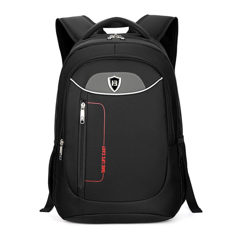 Boshikang Черный 156 дюймов мужчины рюкзак черный бизнес ноутбук сумка daypack мужчины рюкзак школьная сумка
