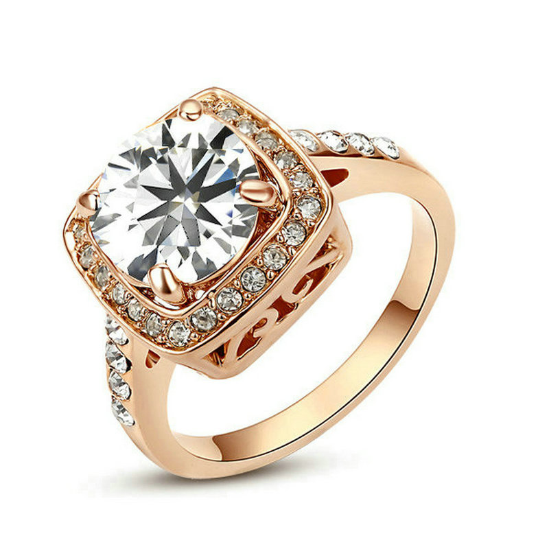 yoursfs 9 yoursfs gorgeous 18k rose gold plated shinning zircon ring for wedding