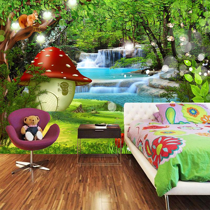 Colomac Смешанный цвет custom mural wallpaper creative space forest path 3d wall sticker wallpaper modern living room bedroom door mural pvc home decor