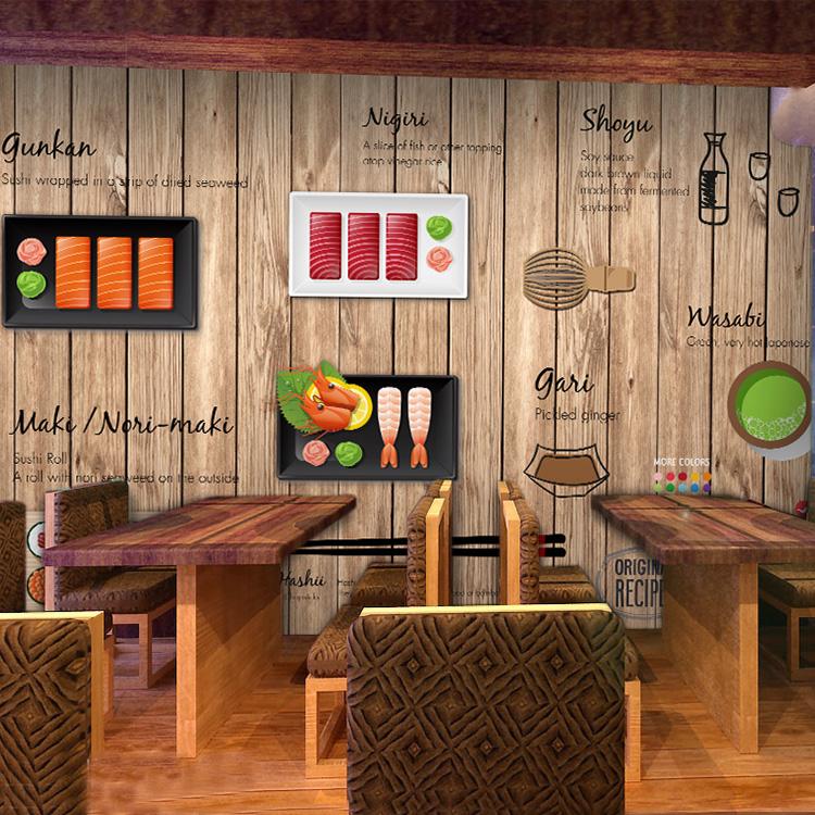 Colomac Смешанный цвет фото обои смазливая мультфильм обои гамбургер фаст фуд ресторан кофе чай магазин большой роспись причал крыльцо дерево обои