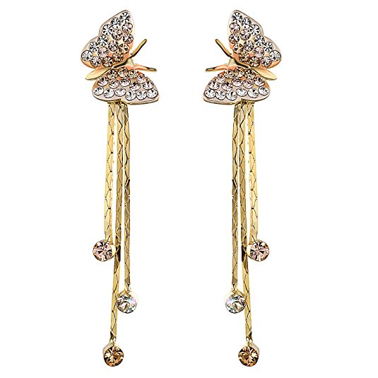 yoursfs Роза золотой yoursfs cc trendy three color drop earrings rose gold plated vintage dangle earring pendientes mujer moda online shopping india