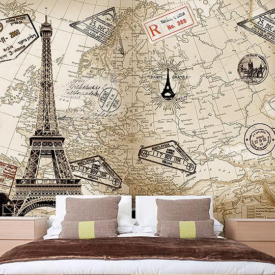 Colomac Смешанный цвет пользовательская 3d роспись пользовательские тв фоновые росписи обои гостиная нетканые 3d золото европейские обои