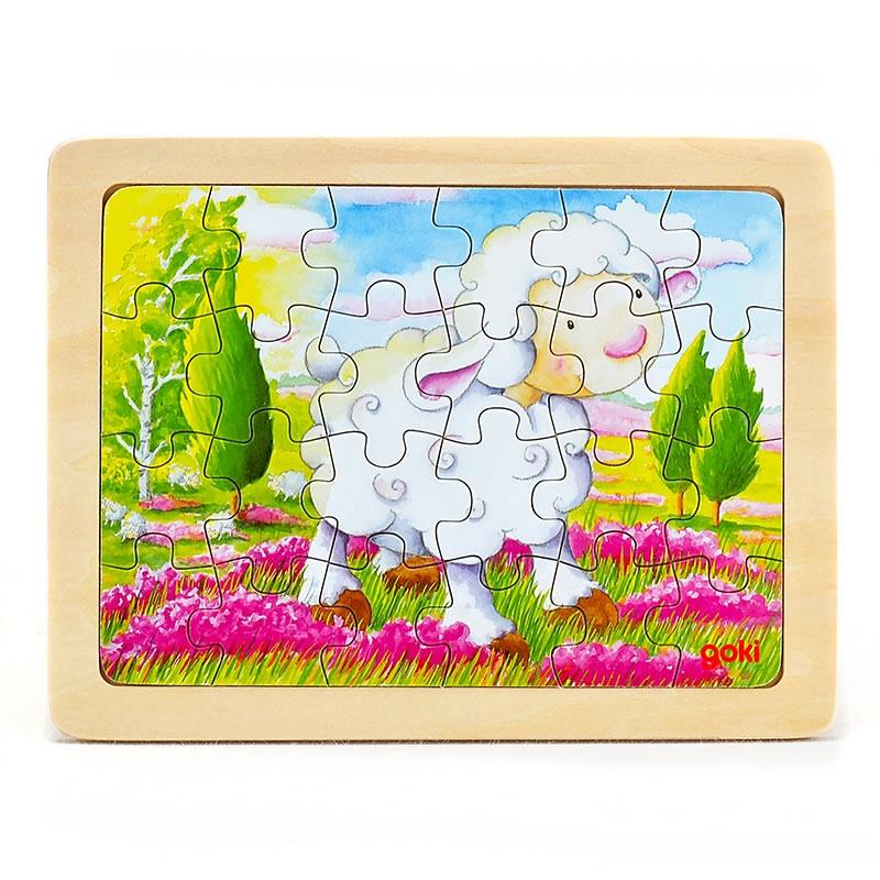 goki Puzzle Animal sheep24pcs mushroom stud building block jigsaw puzzle toy for kids 296pcs