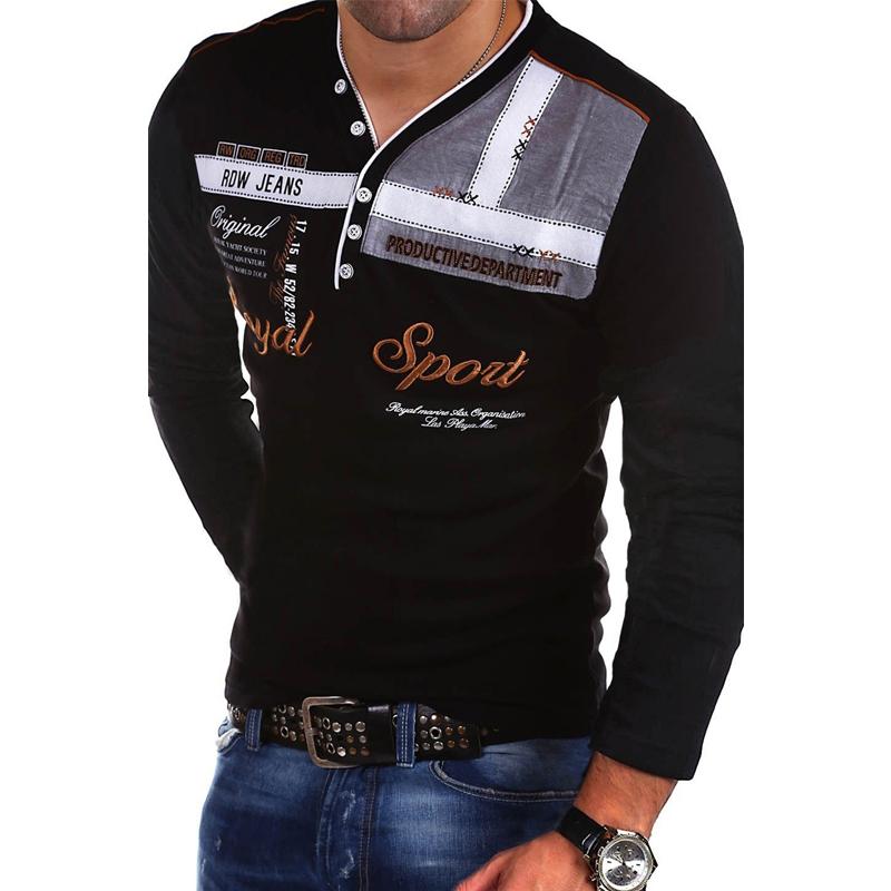 ZOGAA длинные рукава черной Номер S u s polo assn men s short sleeve pique polo shirt with multi color pony logo