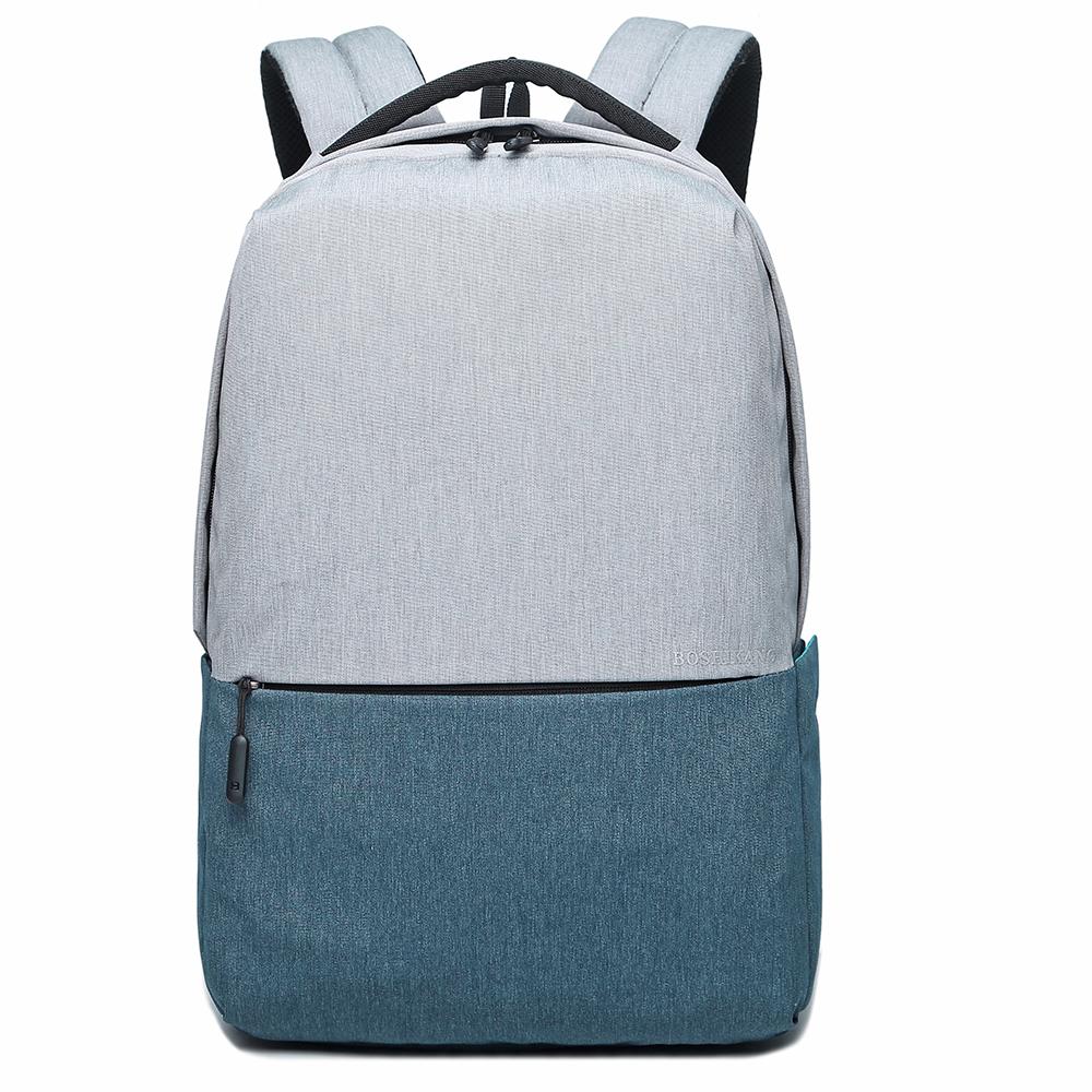 Boshikang серо - синего 156 дюймов мужчины и женщины школьная сумка подросток рюкзак повседневная сумка дорожная су