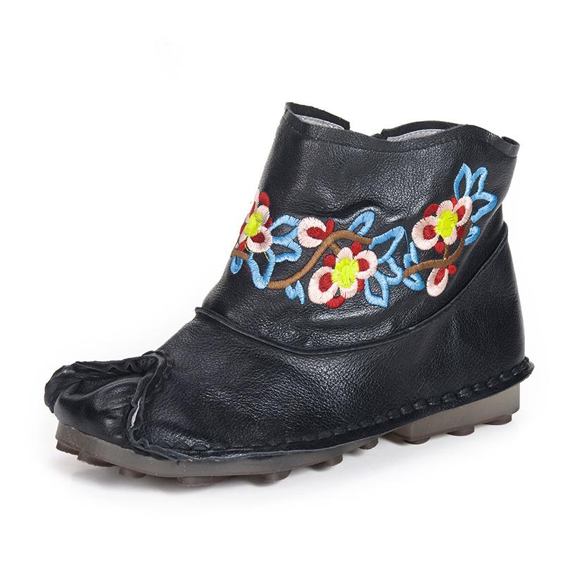 xiangban Чёрный цвет 75 ярдов xiangban женская обувь ручной работы кожаные повседневные ботинки женские туфли на плоской подошве сапоги и ботинки для девочек бо
