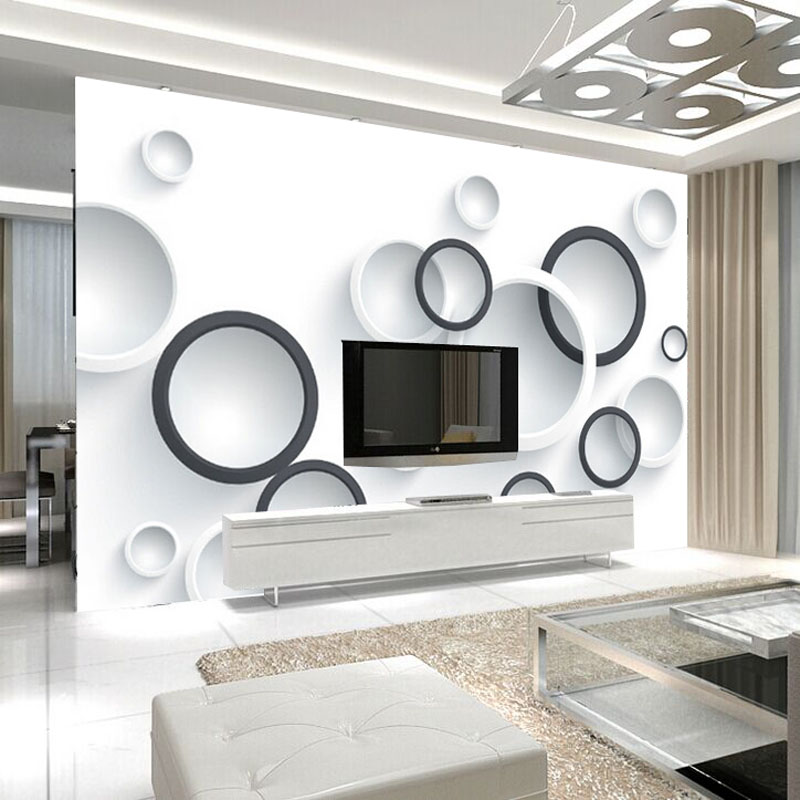 Colomac Смешанный цвет modern minimalist 3d stereoscopic abstract art space murals wallpaper home decor wall painting living room door sticker mural 3d