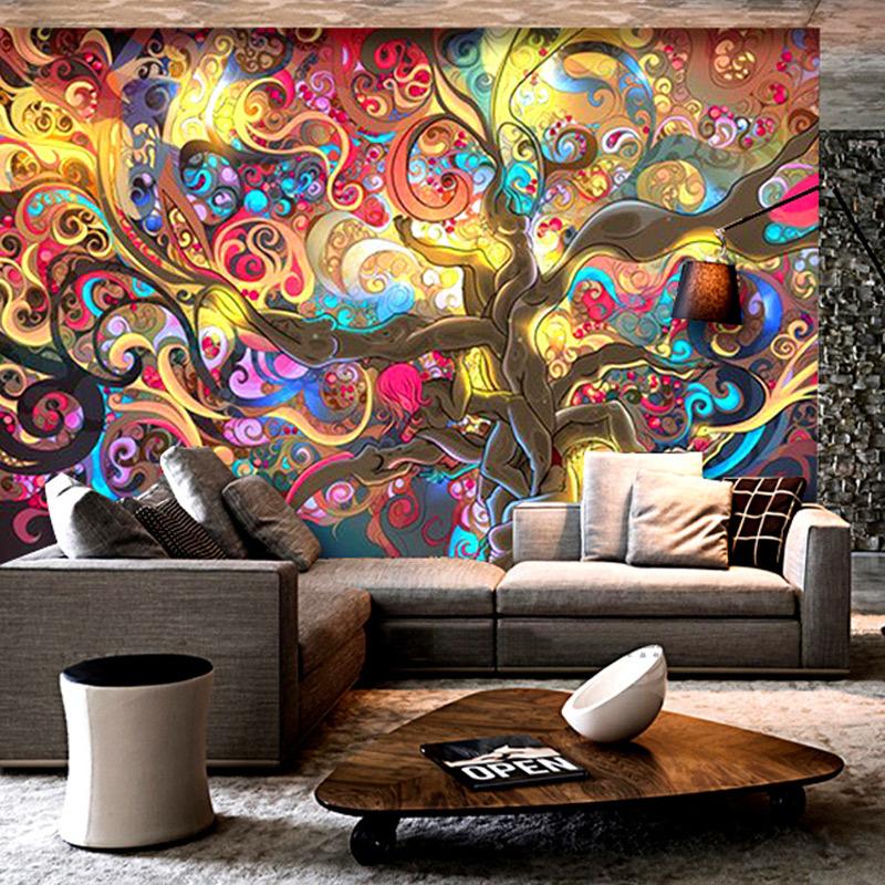 Colomac Смешанный цвет flamingo wall mural