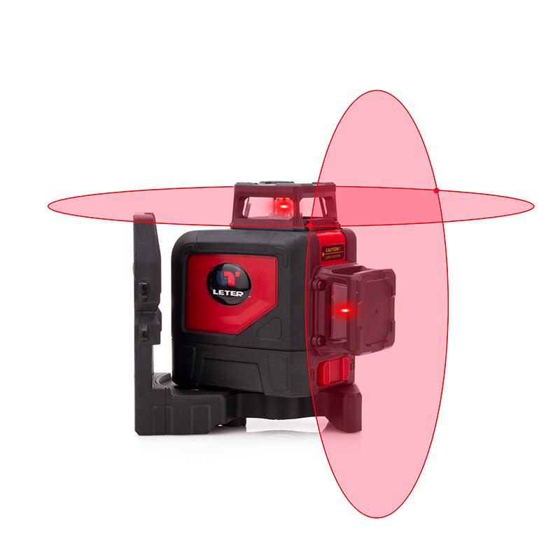 Leter Лазерный уровень Наружная 8-проводная красная светодиодная л
