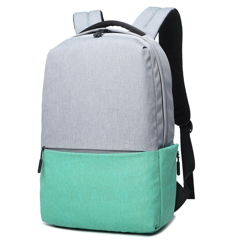 Boshikang Мятный 156 дюймов мужчины и женщины школьная сумка подросток рюкзак повседневная сумка дорожная су