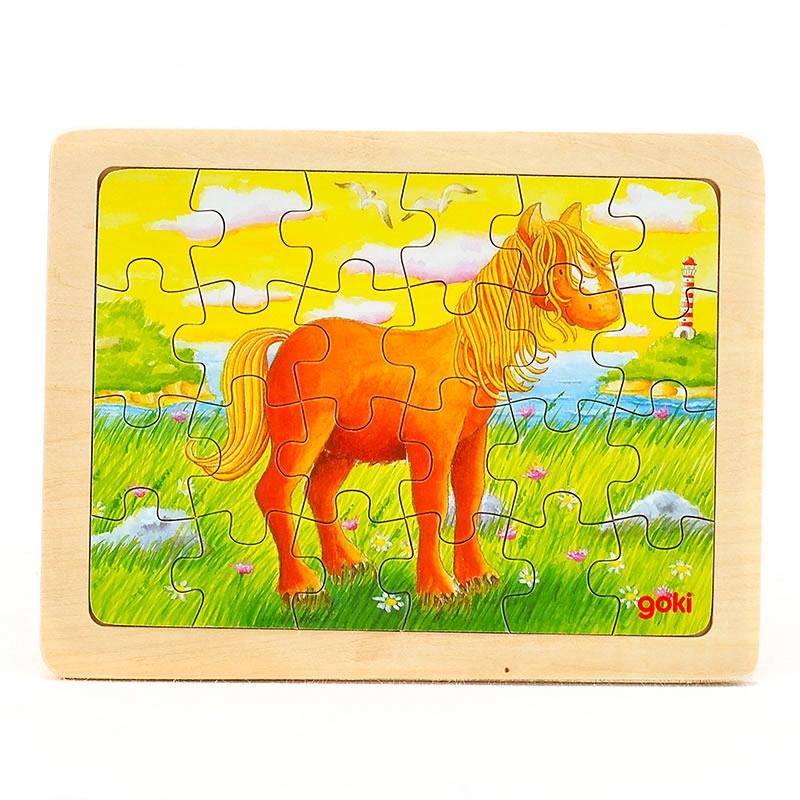 goki Puzzle Animal horse24pcs consumer satisfaction with wooden furniture